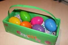 DIY Easter Baskets & Grass -- Shred cardstock or paper for your own grass and decorate a shoe box with your kids for your basket!  Fun for kids and Frugal for mom!