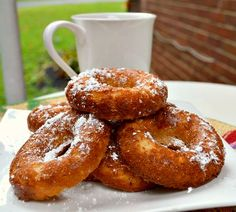 Baked apple donuts- a whopping 125 calories per serving, PLUS five grams of protein.