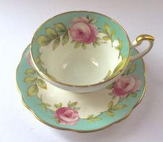 Cup And Saucer Set, Tea Cup Saucer, Vintage China, Vintage Teacups, China Tea Cups, Romantic Cottage, Romantic Homes, Bone China, Tea Time