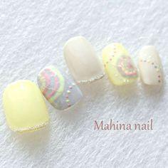 Mahina nailさんのポップ ピーコック ワンカラーのネイル
