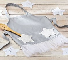 Star Linen Apron | Pottery Barn Kids
