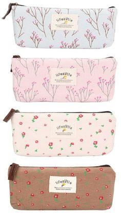 Amazon | Adamz.sp ペンケース 筆箱 フラワー 花柄 かわいい おしゃれ シンプル (ピンク) | ペンケース | 文房具・オフィス用品