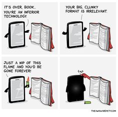 10 grappige cartoons over ebooks