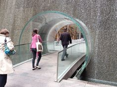 Intriguing portal. The 'space between' becomes a pocket park in mid-town Manhattan.