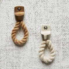 Rope + Metal Knob - Cotton   west elm