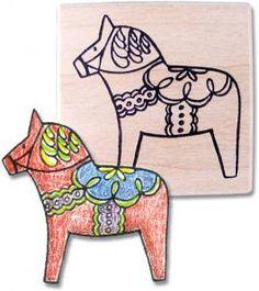 year of the horse craft   dala horse rubber stamp sku 15025 dala horse size 2 2 designed and ...