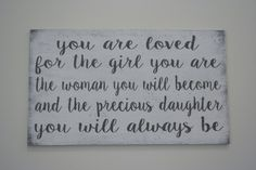 Baby Girl Wood Sign You Are Loved For The Girl You Are Nursery