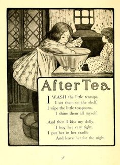After Tea ~ Vintage Children's Poem