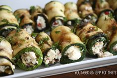 Grilled Zucchini Roll Ups