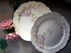 Antique Plates Homer Laughlin Virginia Rose D 51 N by TheBackShak, $15.00