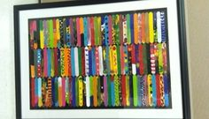 Williamsburg Montessori popsicle stick art. Framed by Walls Alive.