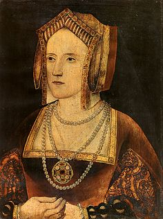 Katherine Parr when Lady Borough, painted between 1527 and 1533. The portrait depicts her in her late teens to early 20s, dressed in the fashion of Henry VIII and Catherine of Aragon's court.