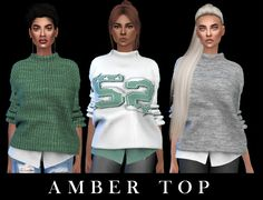Amber Top Fixed at Leo Sims • Sims 4 Updates