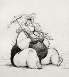 Art of Max Kostenko yum yum - Frauen Haar Modelle Character Design Animation, Character Design References, Character Drawing, Character Illustration, Cute Monsters Drawings, Plus Size Art, Human Figure Drawing, Unique Drawings, Cartoon Sketches