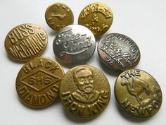 Vintage Workwear Buttons
