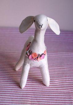 spring llama from Sian Keegan on etsy