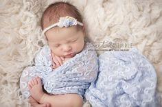 Stretch Lace Wrap - Periwinkle ...newborn photography prop...newborn wrap by LittleKeirasBows