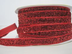 Craft supplies and Handmade Tassels by ichimylove Bulk Ribbon, Red Ribbon, Glitter Ribbon, Red Glitter, Trim Color, Color Red, How To Make Headbands, Purse Handles, Rick Rack