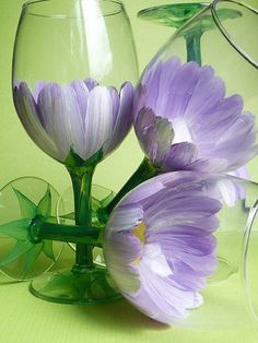 DIY Hand Painted Wine Glass