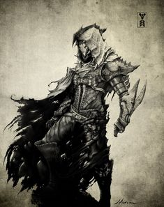 Depiction of the Hunter class from Destiny the game. Fantasy Character Design, Character Concept, Character Inspiration, Character Art, Concept Art, Destiny Hunter, My Destiny, Fantasy Rpg, Dark Fantasy Art
