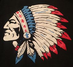 Chief head vintage 1980s sweatshirt. Collection of Stephen Parfitt, Springfield Illinois.