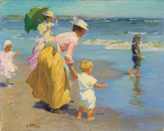 Edward Henry Potthast (American, 1857 - 1927), At the Beach