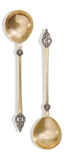 A Pair of Diamond-set Gold Spoons, Turkey, 18th/19th century | Lot | Sotheby's