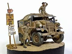 Modeling Tips, Military Diorama, British Army, North Africa, Dieselpunk, Warfare, Scale Models, Military Vehicles, Quad