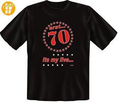 Sprüche Fun T-Shirt in schwarz mit Geburtstags Aufdruck Geschenk zum 70 Geburtstag erst 70 ist my live… (*Partner-Link)