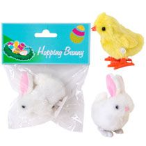 Bulk Wind-Up Hopping Chicks and Bunnies at DollarTree.com