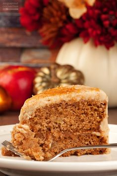 This Caramel Apple Layer Cake can delivered right to your home for an effortless Thanksgiving, Christmas or other family-fun dinner party.