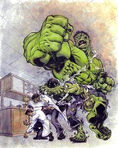 #Hulk #Fan #Art. (Hulk Transformation) By: Brad Green. (THE * 5 * STÅR * ÅWARD * OF: * AW YEAH, IT'S MAJOR ÅWESOMENESS!!!™)[THANK Ü 4 PINNING!!!<·><]<©>ÅÅÅ+(OB4E)   https://s-media-cache-ak0.pinimg.com/474x/24/ba/ca/24bacaa465e5233dafc38395d8227a65.jpg