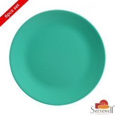 Servewell 6 Pc Urmi Side Plate Set - Sea Green