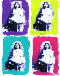Pop art series; antique photo; Jackie Bassett