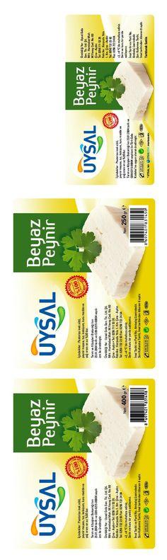 bir uysal gıda markası olan uysal beyaz peynir ürünleri için yapılan kurumsal ambalaj tasarımı
