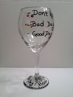 How was your day Hand Painted Emoticon Wine by LivelyLibations https://www.facebook.com/pages/Lively-Libations-Glass/243800552462322