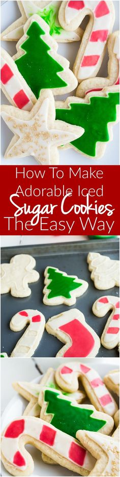 The PERFECT soft sugar cookie. Plus How to Ice your cookies the EASY way! You definitely need to know this method, anyone can do it!! No complicated ingredients, no raw eggs, this icing is only three ingredients that you probably already have on hand!