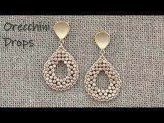 Free Beading Tutorials, Jewelry Making Tutorials, Beaded Jewelry Patterns, Beading Patterns, Beaded Chocker, Bead Loom Designs, Bead Jewellery, Wire Jewelry, Earrings Handmade