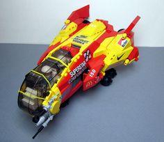 https://flic.kr/p/qjH77L | GARC 150 'McFlyer' | The McFlyer, a rebuilt HL10 e.s.l.b starfighter is flown by D Vincent (pilot) and Meweef Urghball (navigator).
