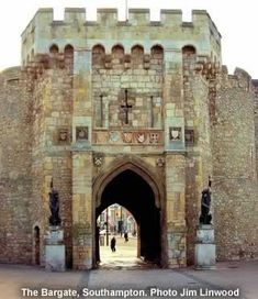 The medieval Bargate in Southampton, UK