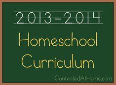 Homeschool Curriculum Plan {2013-2014}