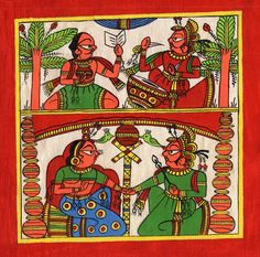 Phad Rajasthan Miniature Art Handmade Indian Folk Maharajah Scroll Painting Phad Painting, Rajasthani Art, Royal Art, Indian Folk Art, Indian Art Paintings, Types Of Art, Incredible India, Heartbeat, Black Art