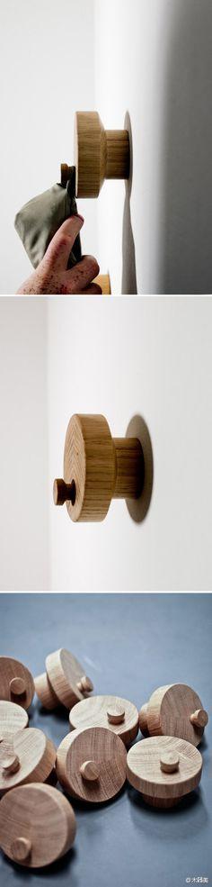 wooden hooks