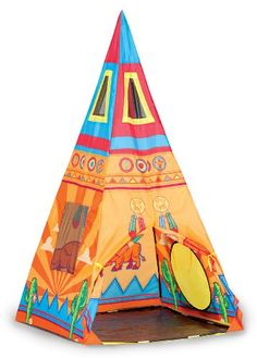 Pacific Play Tents Kids Santé Fe Giant Teepee Tent - x x (*Partner Link) Toys For Little Kids, Games For Kids, Little Ones, Kids Tents, Teepee Kids, Teepee Play Tent, Thing 1, Popular Toys, Outdoor Play