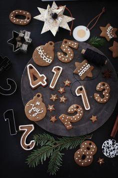 Fräulein Klein : Lebkuchenzahlen und Lebkuchen-Cupcakes mit Orangen-Schokoladencreme