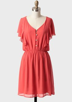 Kaikoura Dress In Coral | Modern Vintage New Arrivals