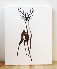 STAG illustration #stag #deer #illust