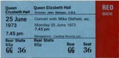 London 1973/06/25 Mike Oldfield, Queen Elizabeth, London, London England