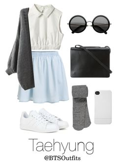 """""""Spring Outfit Inspired by Taehyung"""" by btsoutfits ❤ liked on Polyvore featuring BCBGMAXAZRIA, The Row, adidas, maurices and Incase"""