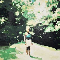 Girl By the Trees by Lisa Golightly